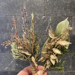 Set of 2 mini dried bunches
